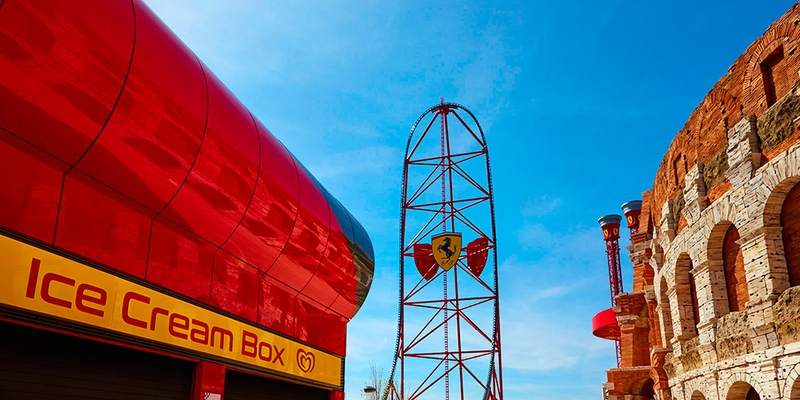 FERRARI LAND FICHA RESTAURANTES ICE CREAM BOX PRINCIPAL