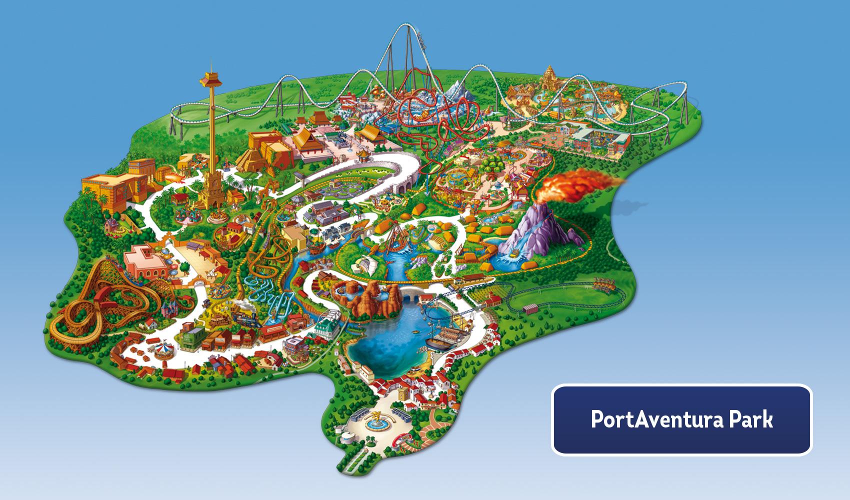 Mapa Port Aventura 2019.My Portaventura Portaventura World
